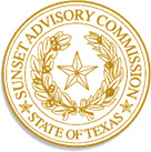 State of Texas Sunset Advisory Commission Seal